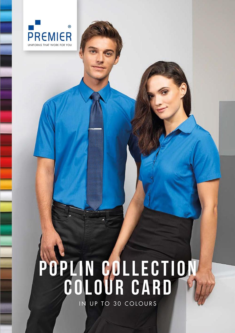 Popelin Hemden Farbkarte