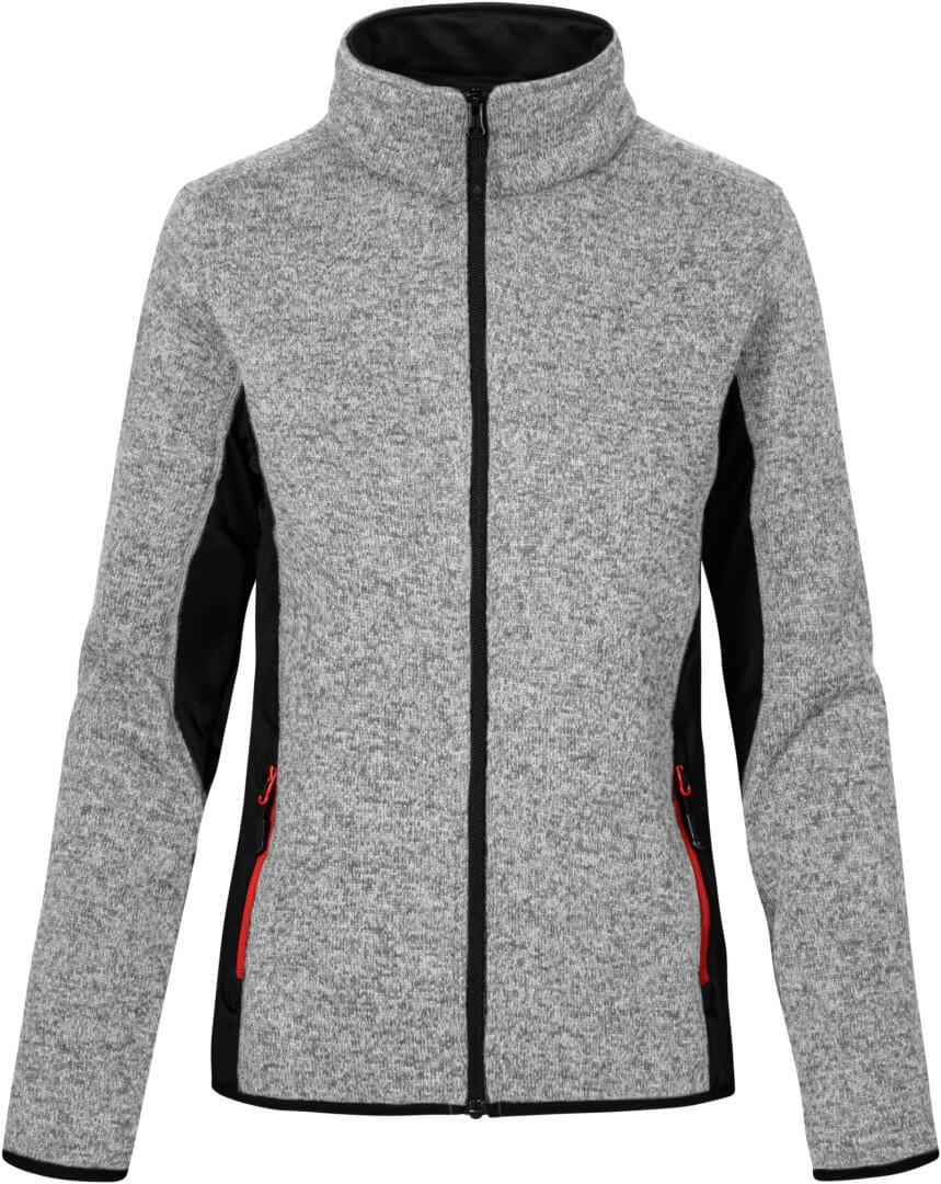 Damen Workwear Strickfleece Jacke