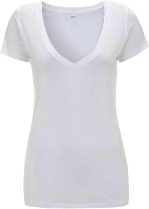 Damen Jersey V-Neck T-Shirt